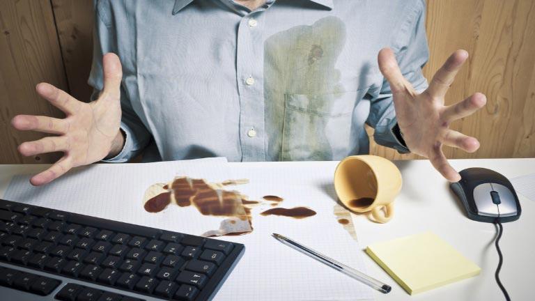 Eliminar las manchas de café
