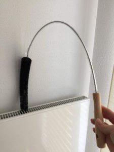 MaxxGoods Cepillo de limpieza para radiadores