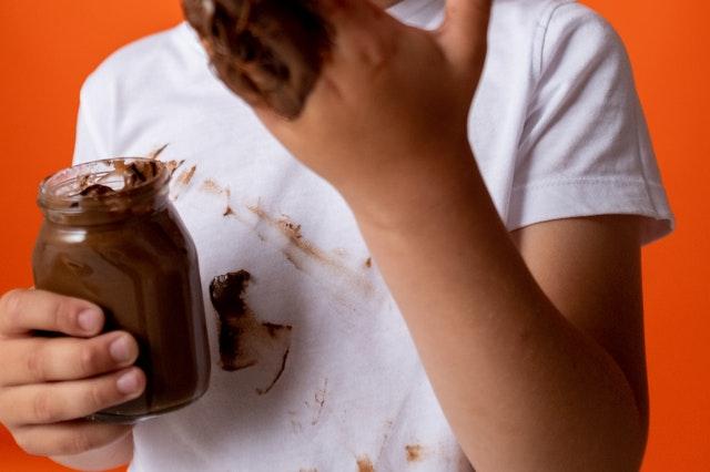 Manchas de chocolate seco