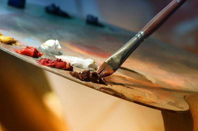 Manchas de pintura acrílica